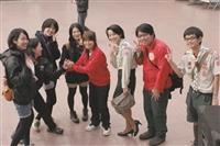 日本明治大學童軍團來訪,淡江童軍團盡地主之誼熱情接機歡迎日本朋友!。(圖/黃文智提供)