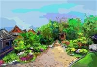 e筆書畫展 :覺軒花園