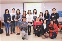 三德慈善基金會獎助12生 高千媛獅國飛來勉勵學生