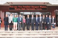 韋恩大學副校長 參訪淡水蘭陽校園