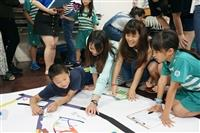 兒童文學服務學習課程修課同學帶領正德里小阿德課輔班孩童「尋找燕子的家」