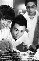 ↑化學系教學著重實驗操作,讓學生動手動腦,親手做實驗,從實作中學習,培育自行操作之技巧,以應就業或進修之需。圖為化學系學生課堂中,進行化學實驗的情況,樂在學習研究中。(圖�陳振堂)