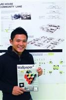 建築系系友胡國裕畢業設計「Made In Script」,被最知名的建築期刊《Wallpaper》選為全球建築新秀。(攝影�吳佳玲)