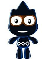 圖為行銷組作品「三峽•藍」設計的動畫公仔omama。(資料來源�洪翎凱提供)
