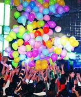 十二系耶趴,瘋狂搶氣球,禮物在其中!(曾煥元攝)