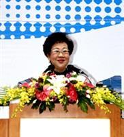 本校57校慶慶祝大會,呂副總統親臨祝賀。(黃士航攝)