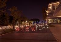 happy new year 光影塗鴉