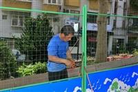 淡水校園圍籬拆除