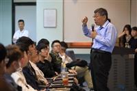學生會、公行系主辦青年震盪演座:柯文哲談「青年創業」