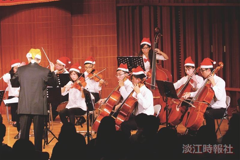 管樂社弦樂社 攜手奏出耶誕樂章