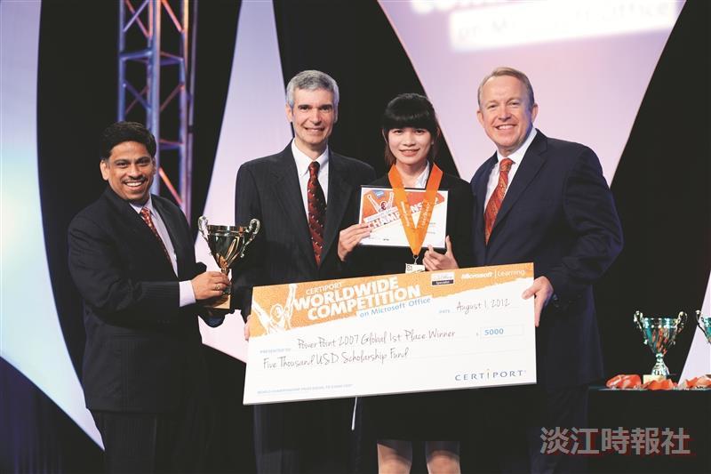 歷屆世界盃淡江人加持 運管四葉致璋接力 捧回2007版本PowerPoint冠軍