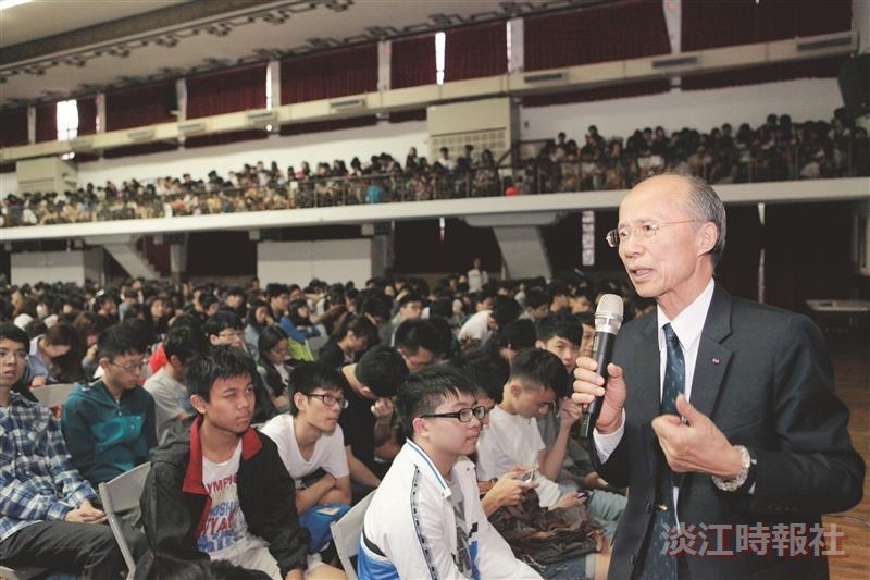 前駐法大使呂慶龍 稱讚淡江學生靈活