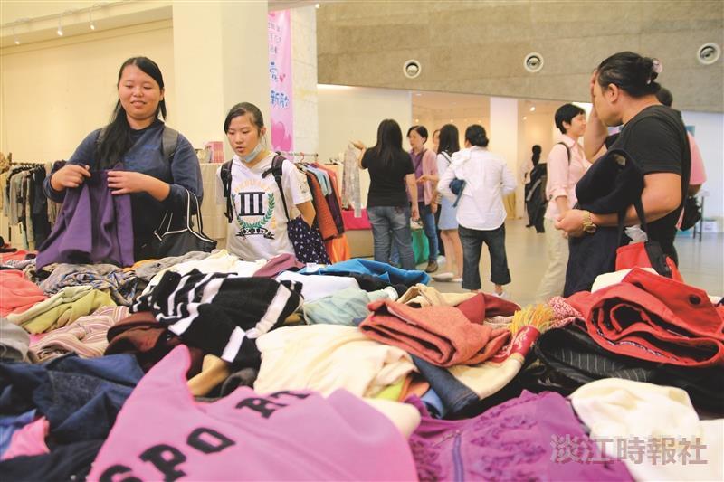 女聯會二手衣飾義賣 精品競標吸睛
