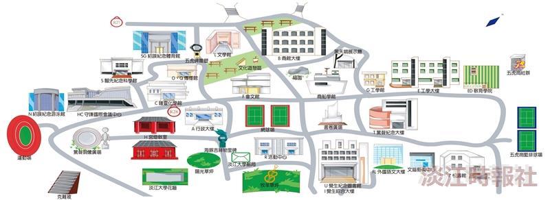 108新生特刊淡水校園地圖