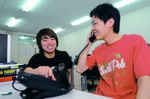 Electrical Engineering alumnus Yan-ching Miao donated IP switchboards and network telephones to the Department that could provide labs with extension numbers. Faculty members can also call back to the labs with the soft-phone through the Internet when going abroad.