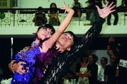 舞林高手齊聚比舞,淡江選手使出渾身解數。(攝影�王家宜)