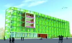 新教育館外牆3D模擬圖(圖�仲觀聯合建築師事務所提供)