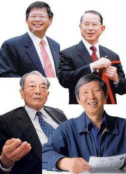 企業最愛時報論壇-企業校友篇(左上)陳慶男、(右上)侯登見、(左下)羅森、(右下)孫瑞隆