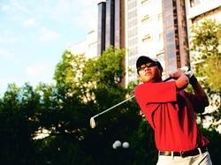 高爾夫球隊隊長謝宗漢邀同學加入校隊,同享飆桿的樂趣。(攝影�劉瀚之)