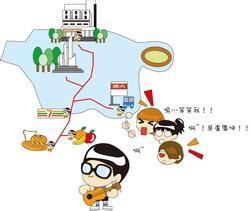 根據線民提供,以下為盧廣仲經常出沒路線。
