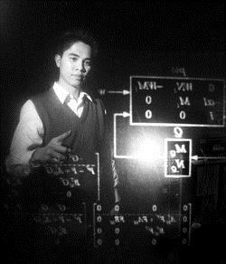 電機系博士班學生林俊辰將前往美國普渡大學接受名師指導。(攝影�陳振堂)