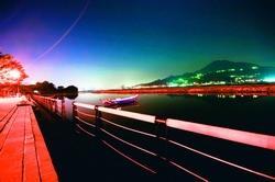 盧廣仲喜歡在河堤沉澱思緒。(圖�黃士航)