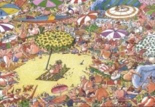 「二○○二年台灣國際漫畫大展」第一名是南斯拉夫職業漫畫家Borislav Stankovic的作品,畫面呈現男女老幼在壯闊的海灘上,或仰或臥,盡情享受沙灘度假生活,但是,有位男士在具有軍事意味的「迷彩」遮陽傘下,正在聚精會神地閱讀一本「戰爭」的書,讓周圍的群眾退避三舍。內容是對和平的一種反諷,創意極盡勁爆誇張,色彩豐富搶眼。