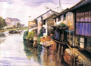 鄧國清擅長平塗法水彩畫