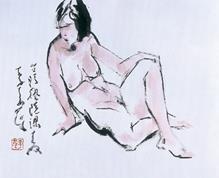 李奇茂《裸女)