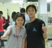 陳秋明(圖右)、趙福容當選下學年度學生會正副會長。 (攝影/練建昕)