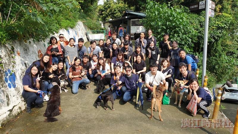 華僑聯誼會愛心團去動物之家服務