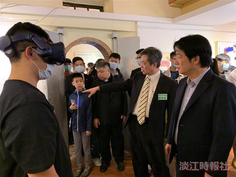 USRUSR在地文創展 賴副總統藉VR體驗老淡水