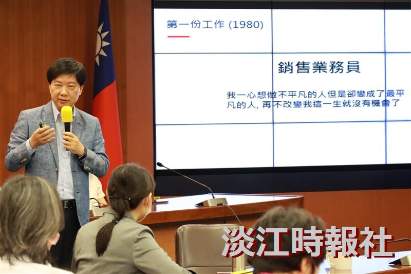 文學院邀請國際大師ViewSonic董事長朱家良演講「苦幹、實幹,還得用對方法:談創意思惟的重要性」