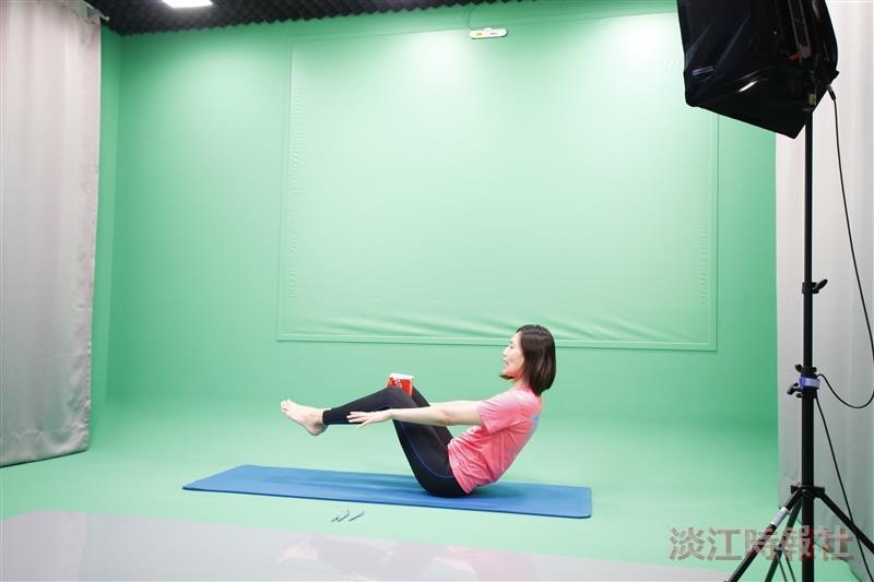 體育處講師郭馥滋遠距教學預錄體育課程