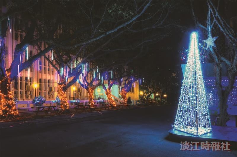耶誕燈飾 七彩閃亮校園