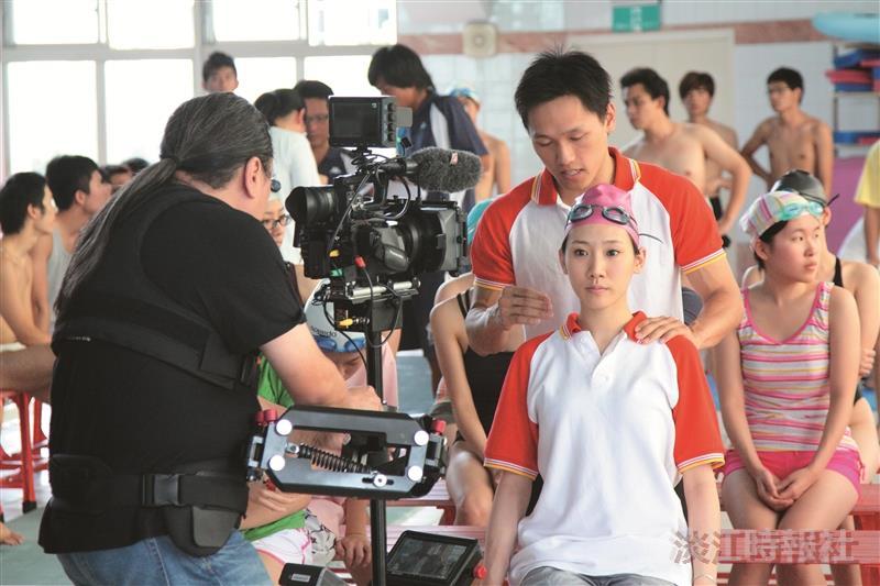 游泳館拍攝青春校園偶像劇