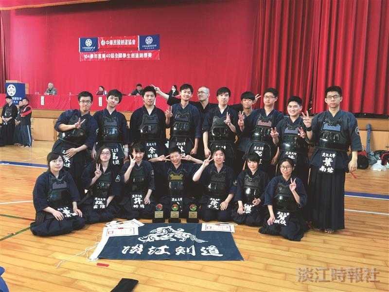 全國學生劍道賽 奪男子團體亞軍