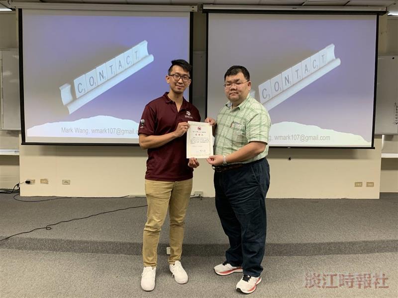 土木系邀請王彥誌說明「拚途-留學、專業與職涯分享」