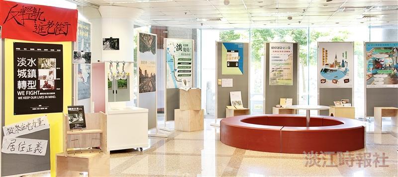 圖書館舉辦「淡哩來!數位新聞實驗室成果展」暨 主題書展,由圖書館與大傳系蔡蕙如「資訊編採與文案設計」課程